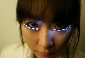 Attention Lady Gaga: your LED eyelashes have arrived