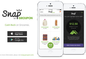Groupon's Snap app offers cash-back on groceries in the US and Canada