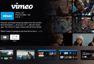 Vimeo releases apps for tvOS, Android TV, and Samsung's Tizen-powered TVs.