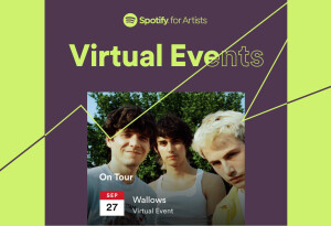 Spotify now lets artists list virtual tour dates on their pages