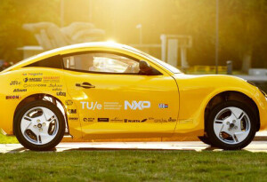 This adorable little electric car is made of trash