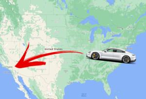 Porsche Taycan dethrones Tesla Model 3 as the fastest EV to cross the USA