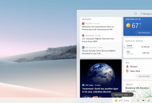 Your Windows 10 taskbar is about to get a news and weather widget
