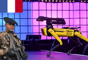 Spot the (robot) dog enlists in the French Army, (battery) dies