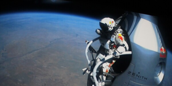 Watch Felix Baumgartner discuss his supersonic freefall from the edge of space [Video]