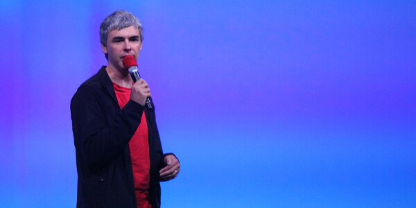 Google CEO Larry Page speaks at I/O about competition and negativity in innovation