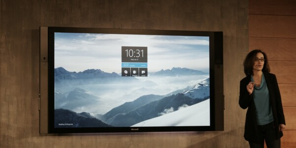 Microsoft unveils Surface Hub display to help groups work together