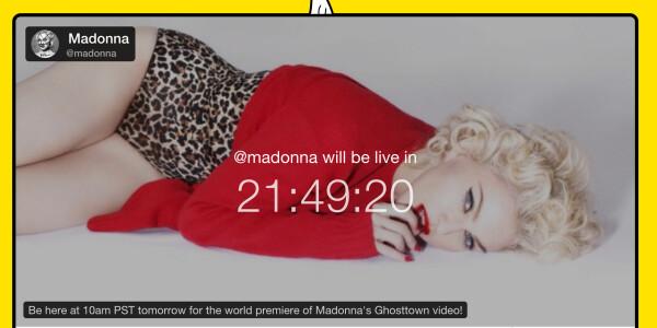 Madonna to premiere her new video on Meerkat, despite signing the Tidal declaration last week