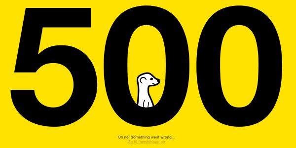 Madonna's Meerkat video premiere utterly failed, displayed a 500 error page instead