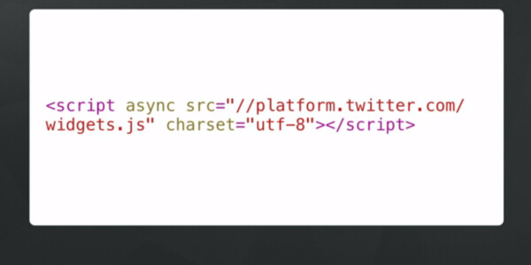 Twitter has made it easier to embed real-time social content on a Website