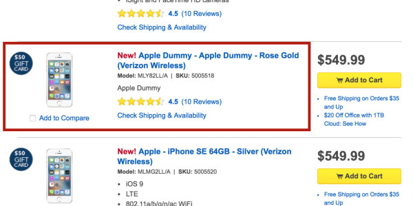 Best Buy just proved why it's important to triple check your placeholder text