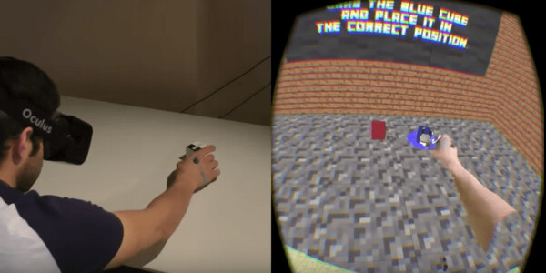 Microsoft can trick VR gamers into thinking they're stacking real Minecraft blocks