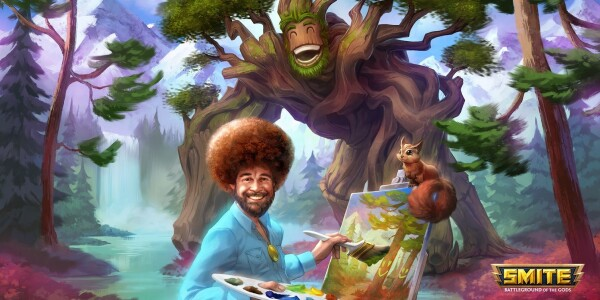 Bob Ross takes on the divine in SMITE