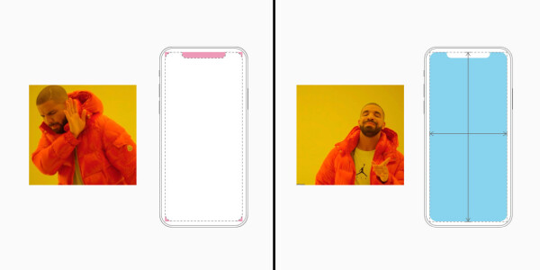 Apple wants appmakers to avoid the notch when designing for iPhone X