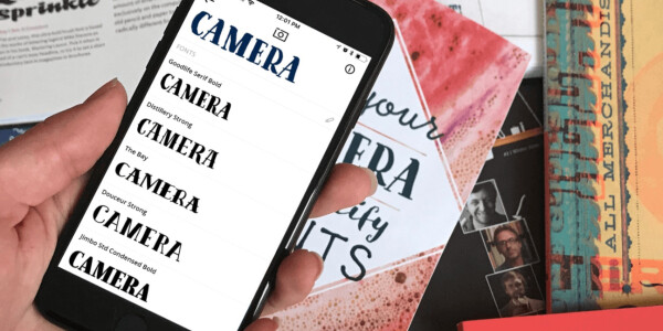 This app is like Shazam for fonts