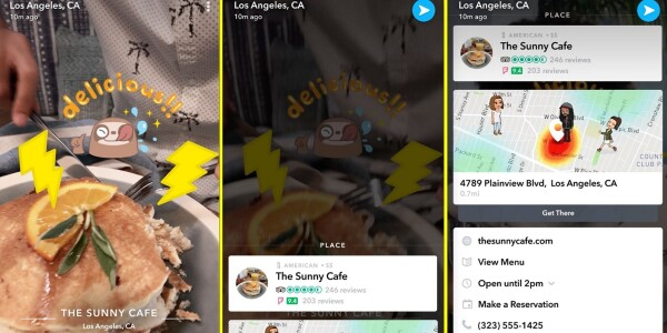 Snapchat's Context Cards turn it into Yelp for teens