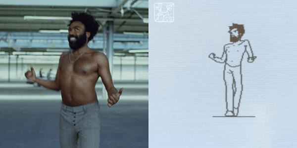 Digital Artist painstakingly recreates Childish Gambino's 'This is America' on an ancient Macintosh SE