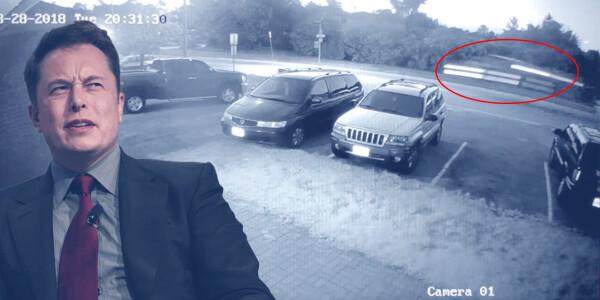Watch: Tesla goes airborne, crash lands into school parking lot