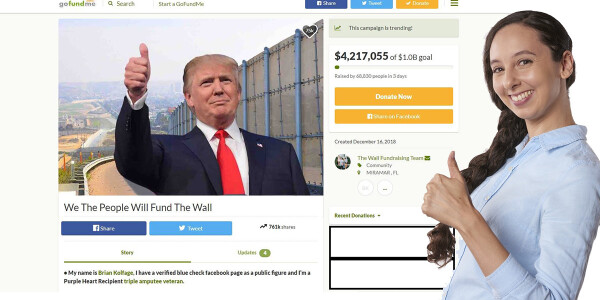 Opinion: If you love Trump you're duty-bound to help crowdfund the wall