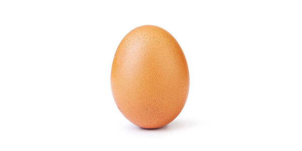 The race to become the most-liked Instagram post has been won by an egg