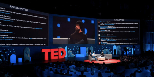 Twitter users trolled Jack Dorsey so hard they had to shut off the screen during his TED Talk [Update]