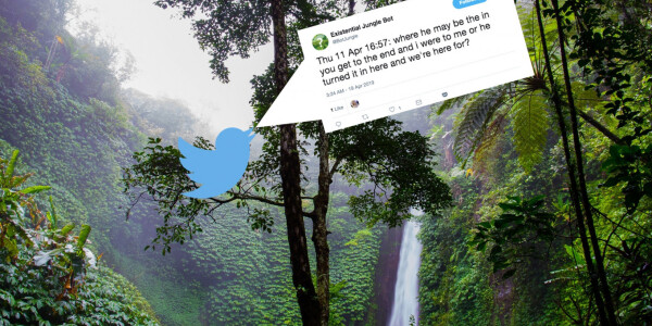 A Twitter bot that translates jungle sounds to existential questions might just help save the rainforest