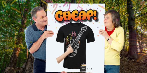 CHEAP: No way, this guitar shirt YOU CAN ACTUALLY PLAY is 68% off!