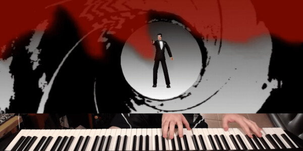 Watch someone play GoldenEye with a piano as a controller