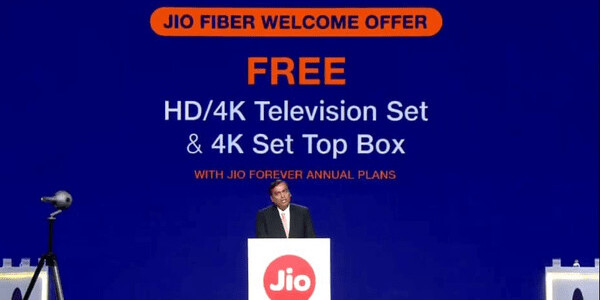 India's top telco to offer free 4K TVs with its upcoming broadband service
