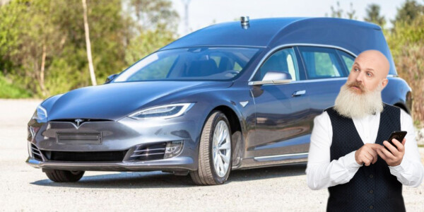 Carbon offset your death with this $200K 'Frankensteined' Tesla hearse