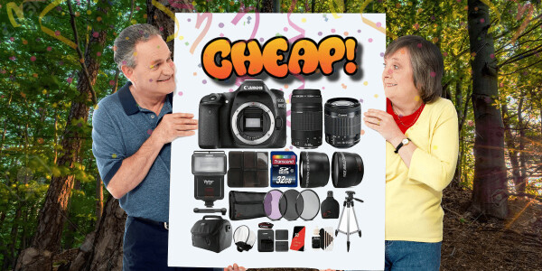 CHEAP: Holy snap! Here's 64% off the Canon 80D megakit