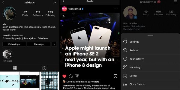 Instagram now supports dark mode on iOS 13 — here's how to enable it