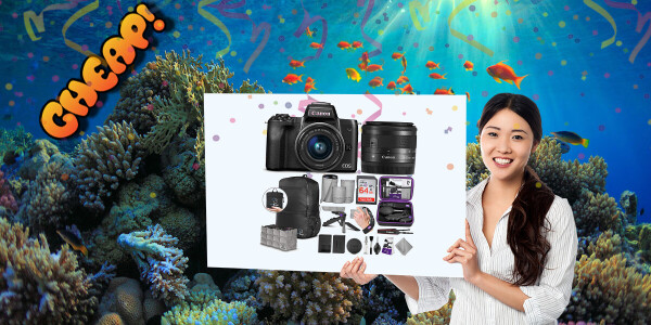 CHEAP: A complete Canon EOS M50 travel photography kit for $599? OMG, yes