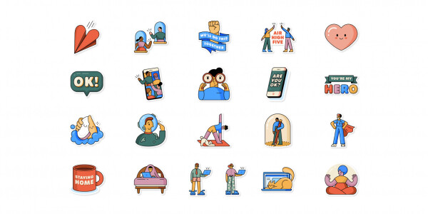 WhatsApp teams up with the WHO to release 21 new stickers about quarantine life