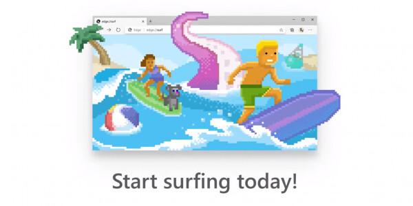 Microsoft brings Edge's hidden Surf Game to everyone