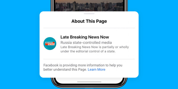 Facebook begins placing labels on posts by 'state-controlled media'