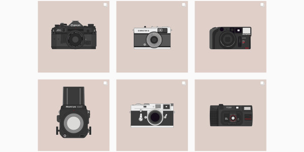 This illustrator celebrates analog photography by drawing classic film cameras