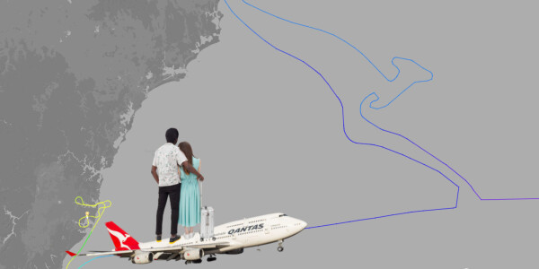 Qantas' last ever 747 flight bids farewell by drawing a giant kangaroo in the sky