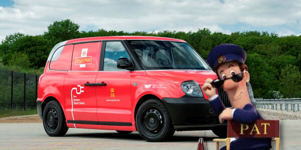 UK's Royal Mail has a new 'green' delivery van — but it's really an 'electric' London taxi