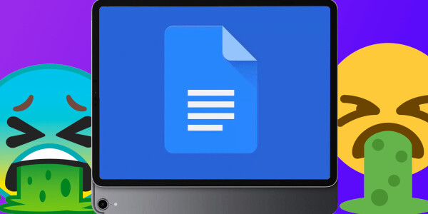Hey Google, can you sort out the Docs iPad app please?
