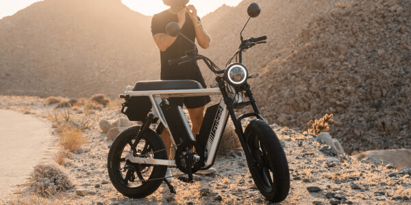 The Juiced HyperScramber 2 ebike goes 100+ miles per charge using a pair of massive batteries