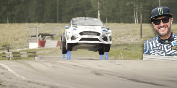 Watch Ken Block tear it up in an all-electric Rallycross car