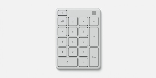 Microsoft made a $25 Bluetooth number pad for your Surface