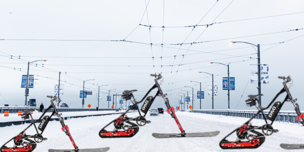 Ingenious Canadian invention turns boring bicycles into snow conquering ebikes