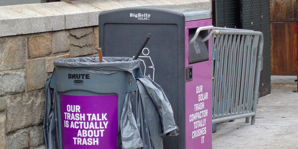 Dublin's smart trash cans found a new purpose in the pandemic: Snitching