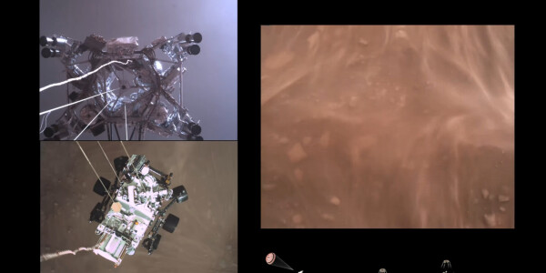 Watch: Amazing NASA footage shows Perseverance rover setting down on Mars