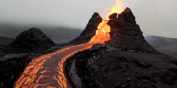 Take 15 seconds of your time to watch a drone fly by an erupting volcano