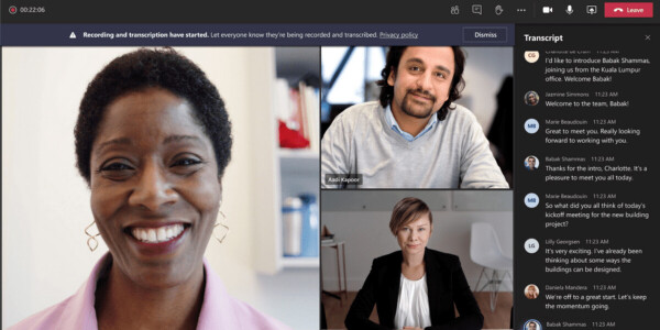 Microsoft Teams now offers AI-powered live meeting transcriptions