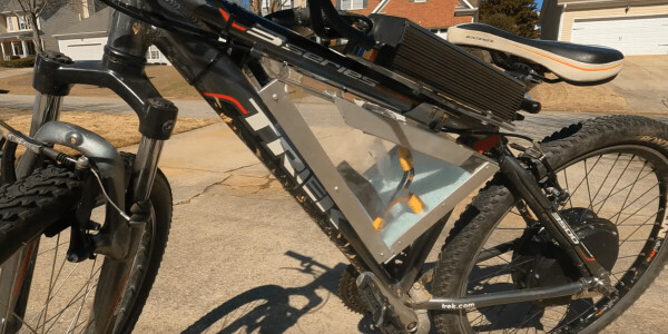 Watch what happens when you put a 5,000 watt motor on a homemade ebike
