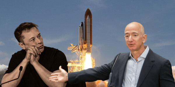 Space rivalry between Jeff Bezos and Elon Musk heats up over lunar lander contract